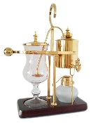 A Vintage Belgium Syphon Coffee Maker in Gold